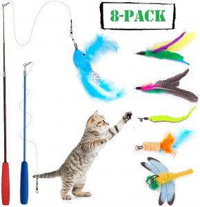 juguete para gatos caña de pescar