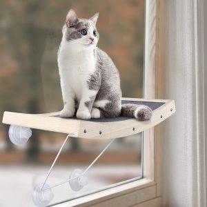 Hamaca de ventana para gatos con ventosas