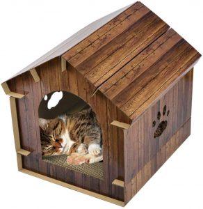 casa cartón para gatos jannyshop