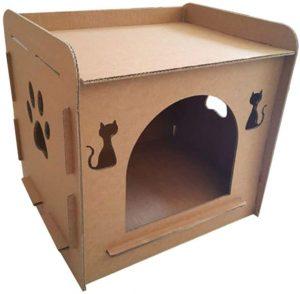 Casa de carton para gatos grandes