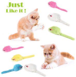 Ratón de juguete con Catnip hierva gatera