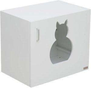 Mueble para arenero de gatos pawhut