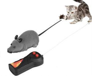 Juguete raton para gatos radio control, control remoto