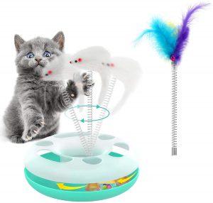 Ratón de juguete interactivo para gatos